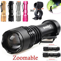 Focus Zoomable Adjustable 15000LM 3mode T6LED Flashlight Torch Compact 14500/AA