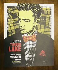 Justin Timberlake The Man Of The Woods Tour Concert Lithograph Poster Rare 300