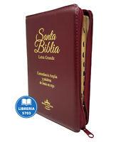 BIBLIA LETRA GRANDE REINA VALERA 1960 CON CIERRE E INDICE COLOR VINO