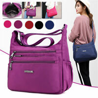 Women Waterproof Nylon Crossbody Shoulder Bag Lady Travel Handbag Satchel Tote