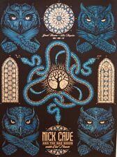 NICK CAVE & the Bad Seeds Poster Todd Slater June 29 2017 Greek Theatre LA CA