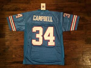 NWT Mitchell & Ness Earl Campbell Throwback Jersey Size 54(2XL) Stitched/sewn On