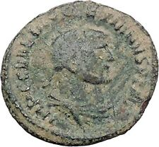 DIOCLETIAN receiving Victory on globe from  JUPITER  Ancient Roman Coin  i47646