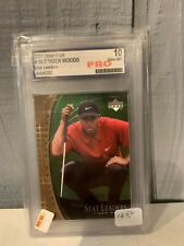 PRO Graded Gem Mint 10 Tiger Woods Golf Card 2001 Upper Deck Stat Leaders NICE!