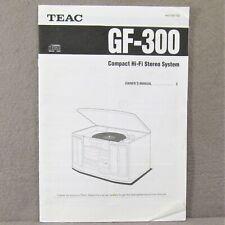 Teac Gf-300 User Manual
