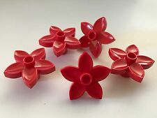 *NEW* 5 Pieces Lego Duplo RED FLOWER Plant 1 Stud