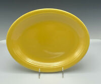 "Vintage Fiesta Yellow Oval Serving Platter Plate 12.5"" Fiestaware HLCo USA"