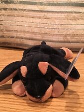 Doby The Doberman Pinscher Dog Ty Beanie Baby Style 4110. Rare, New and Mwmt.