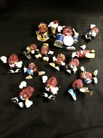 Vintage California Raisins Vintage PVC Figures LOT  from the 80's - set 3