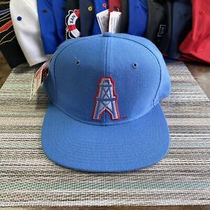 Vintage 90's Houston Oilers WOOL New Era Snapback Hat Starter Script Splash Vtg