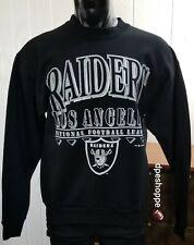 NFL Oakland Raiders Football Crewneck Black Sweatshirt 1992 Size Large