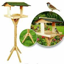 WOODEN TRADITIONAL BIRD TABLE GARDEN BIRDS FEEDING STATION FREE STANDING BF009