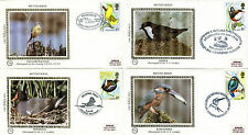 16 JANUARY 1980 BRITISH BIRDS BENHAM SET ALL 4 SMALL SILK FIRST DAY COVERS SHS