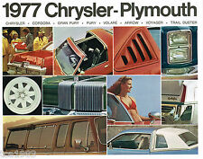 1977 PLYMOUTH Brochure/Catalog: TRAIL DUSTER,ARROW,CORDOBA,FURY,VOLARE,VOYAGER,