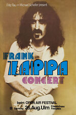1970's OffBeat Rock: Frank Zappa in  Germany Concert Tour Poster 1978