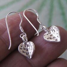 Heart Thai Karen Hill tribe Earring Pure Silver