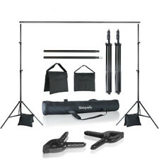 Loadstone Studio Photo Video Studio 10 ft. Adjustable Background Stand Backdrop
