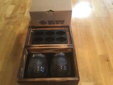 Genuine Harley Davidson cheers gift Set wood box glass tumbler ice tray