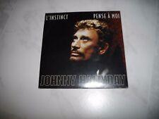 "Johnny Hallyday CD Single (Neuf)  ""L'instinct"" et ""Pense a moi"""