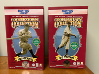 LOU GEHRIG & TY COBB Starting Lineup SLU Cooperstown LE Collection 12""