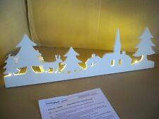LED Deko-Objekt Silhouette warm-weiß 15 LED`s warmweiß 58 cm breit Fensterdeko