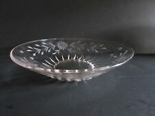 "New Martinsville Radiance 10"" Bowl with Floral Gray Cutting"