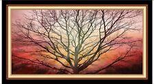 "24"" Fabric Panel - Artworks Digital Sunset Tree Silhouette  - Quilting Treasures"