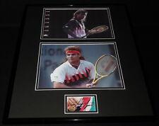 Andre Agassi Signed Framed 16x20 Photo Set