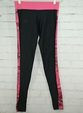 UNDER ARMOUR COLD GEAR FITTED LEGGINGS PANTS - WOMEN'S Medium - Black & Pink