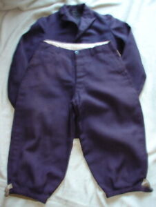 Antique Edwardian YOUTH Navy Blue Knicker 2 pc.Suit - Approx Size 12-14 E3-2