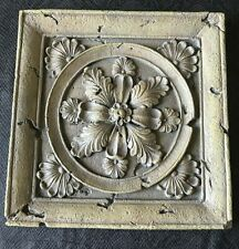 Acanthus Leaf Wall Stepping Stone 11 x 11 in Mediterranean 5 lb. Concrete Resin