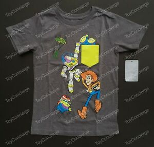 DISNEY Store TEE for Boys TOY STORY BUZZ WOODY ALIENS T Shirt PICK Size NWT