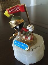 Ron Lee MARVIN THE MARTIAN Looney Tunes Figurine Signed 1993 Marble Base MINT