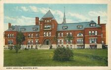 Mercy Hospital, Manistee, Michigan   1920   PreLinen with Border