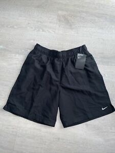 "Nike 7"" Volley Swim Trunks Board Shorts Black NESSA559-001 Men's Size Large"
