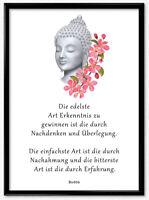 Bild Kunstdruck Spruch Budda Meditation Weisheit  Geschenk Wandbild Deko A3 A4