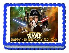 STAR WARS edible cake image cake topper party cake decoration - personalized