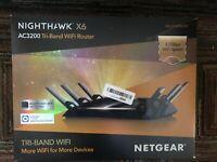 NETGEAR Ac3200 Nighthawk X6 Tri-band WiFi Router (Open Box)