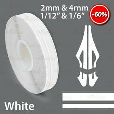 """WHITE 12mm 1/2"""" Roll PinStripe PinStriping Double Lines Tape Vinyl Car STICKER"""
