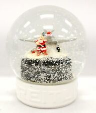 Collectable BREITLING CHRISTMAS Santa With An Airplane GLASS Snow Globe - P19