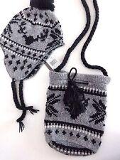 ensemble ♥ GALERIE LAFAYETTE ♥ bonnet chapka ponpon + sac lainage assorti