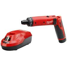 Hex Screwdriver Set Cordless 1/4 in. 4-Volt Lithium-Ion With Battery And Charger