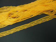 Galon dentelle ,Jaune, prix au mètre , mercerie, lace fabric ribbon border