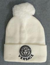 NEW Versace Winter Beanie White Unisex