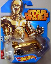 C-3PO star wars hotwheels mattel NEW gold vw drag bus exclusive hot wheels c3po