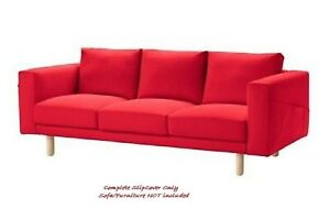 Ikea cover set for Norsborg 3-Seater Sofa in Finnsta Red