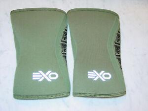 EXO Sleeve Compression Rebel Knee Sleeves Triple-Reinforcement Neoprene Size XS