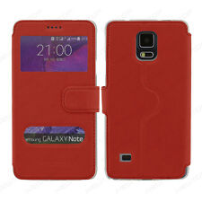 cover A LIBRO custodia HQ WINDOWS per SAMSUNG GALAXY NOTE 4 N9100 NEWTOP® rosso
