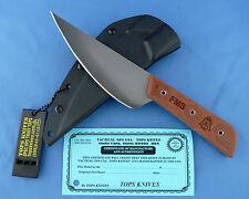 TOPS Frog Market Special Knife Tan Canvas Micarta 1095 Carbon Steel USA