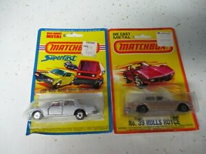 Matchbox Lesney Superfast SF39 Rolls Royce- Lot of 2 color variations, carded